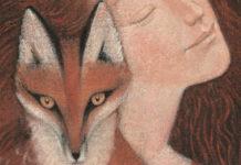 Na zdjeciu widzimy okladke ksiazki na ktorej jest ilustracja kobiety i lisa