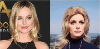 Po lewej Margot Robbie w blond włosach, po prawej Sharon Tate w blond włosach