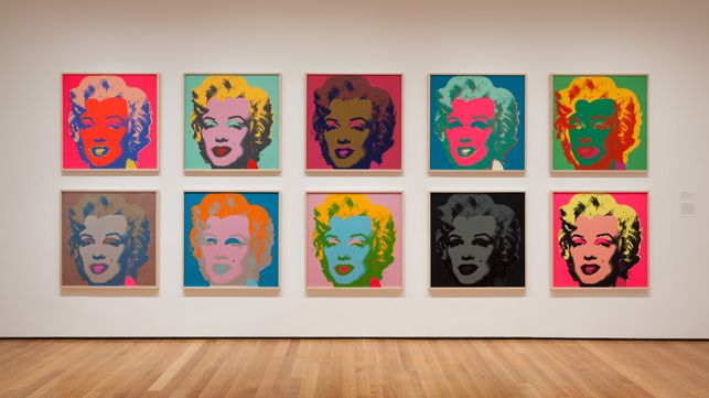 wizerunek Marilyn Monroe w wielu kolorach
