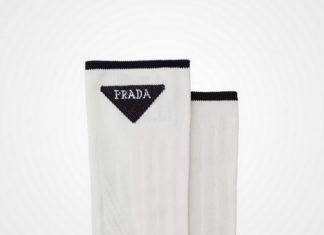 Skarpetki z logo Prady