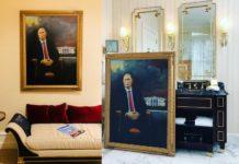 Obraz Putina w hotelu Trumpa