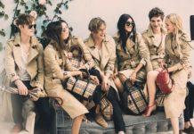 Grupa młodych ludzi ubrana w ciuchy w kratkę