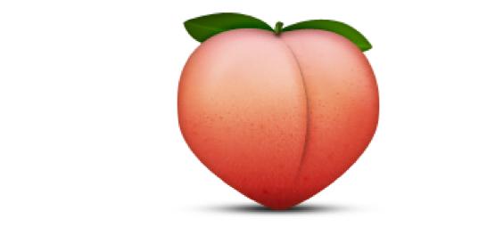 Emoji brzoskwini w sekstingu