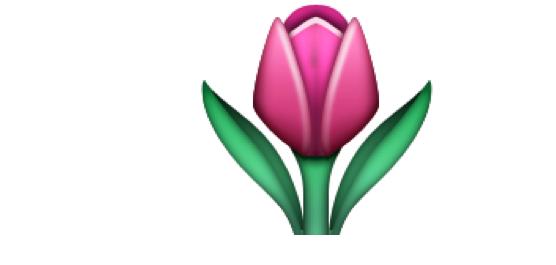 Emoji tulipana w seks rozmowach