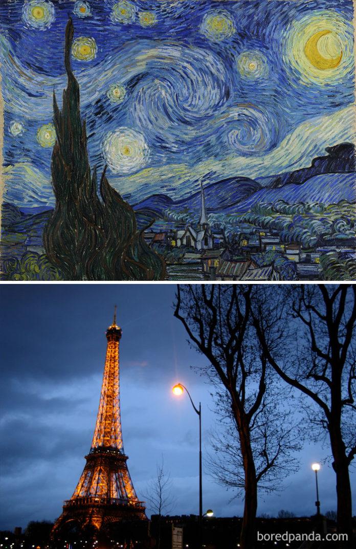 Obraz i wieża Eiffla