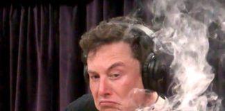 Elon Musk palący marihuanę podczas podcastu Joe Regana