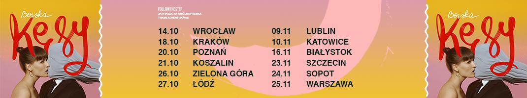 Baner z rozpiską trasy Bovskiej