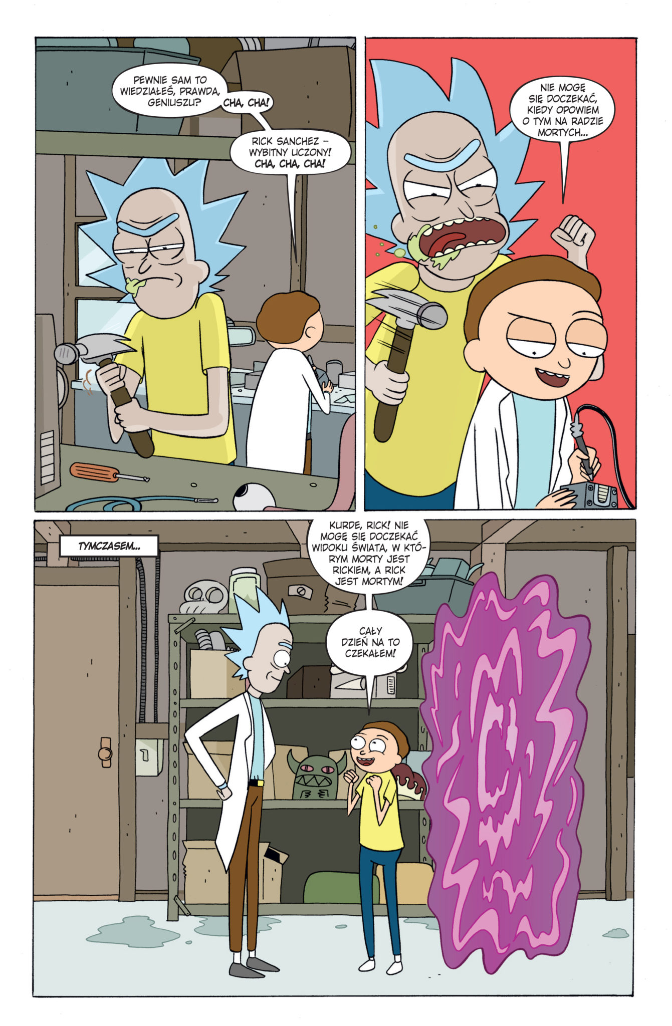 Fragment komiksu Rick i Morty