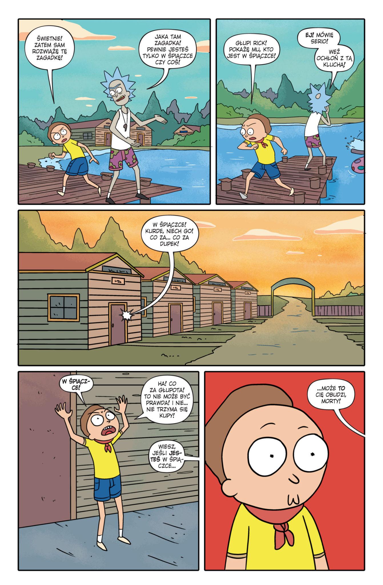 Fragment komiksu Rick i Morty