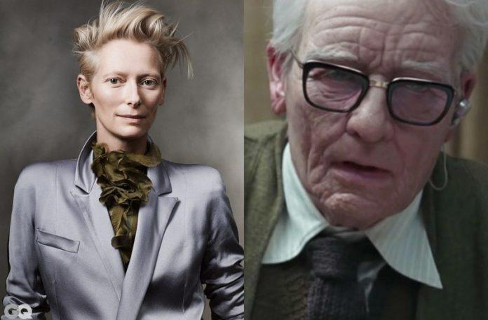 Kobieta w garniturze i starszy mężczyzna