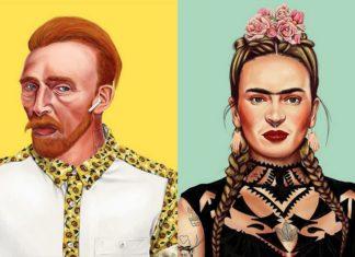 Vincent van Gogh i Frida Kahlo jako hipsterzy