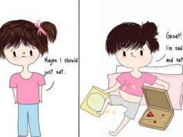 Rysunek predstawiający dziewczynę