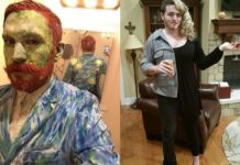Kostium Vincenta Van Gogha i pół kobieta pół mężczyzna