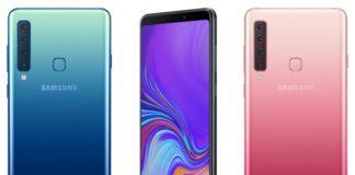 Trzy telefony Samsung A9