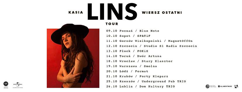 Trasa koncertowa Kasi Lins