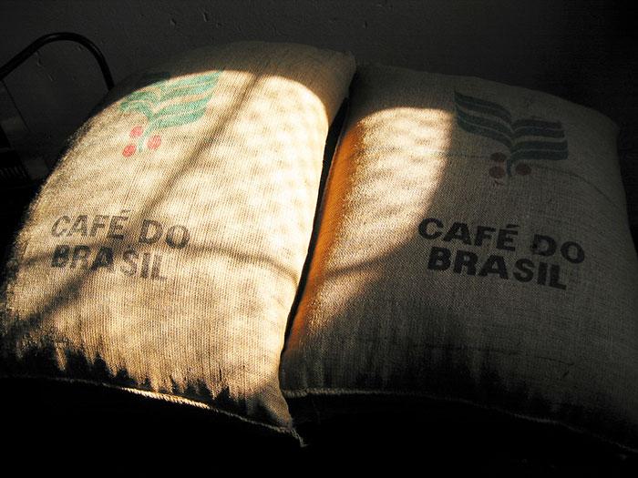 worki kawy z brazylii