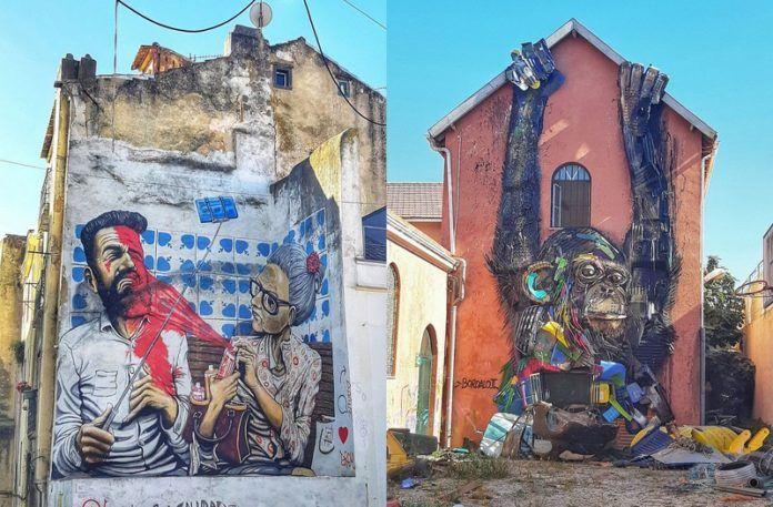 Mural na ulicy Lizbony