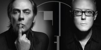 Dwa czarno-białe portrety przedstawiajace mężczyzn