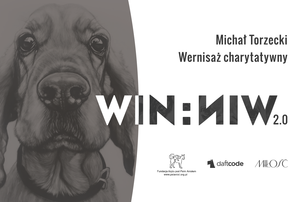 Plakat wystawy charytatywnej win:win 2.0