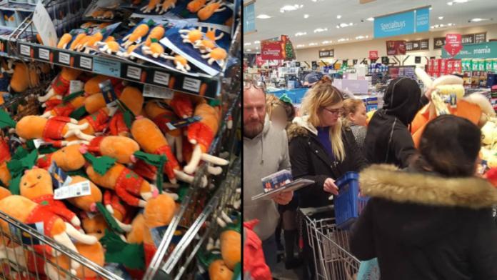 Bitwa o zabawki w sklepie