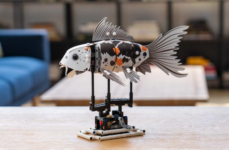 Ryba zbudowana z klocków
