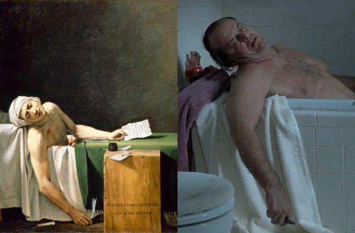 Mężczyzna leżący w wannie