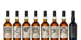 Osiem butelek whiskey
