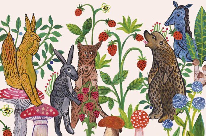 Ilustracja przedstawiająca zwierzęta
