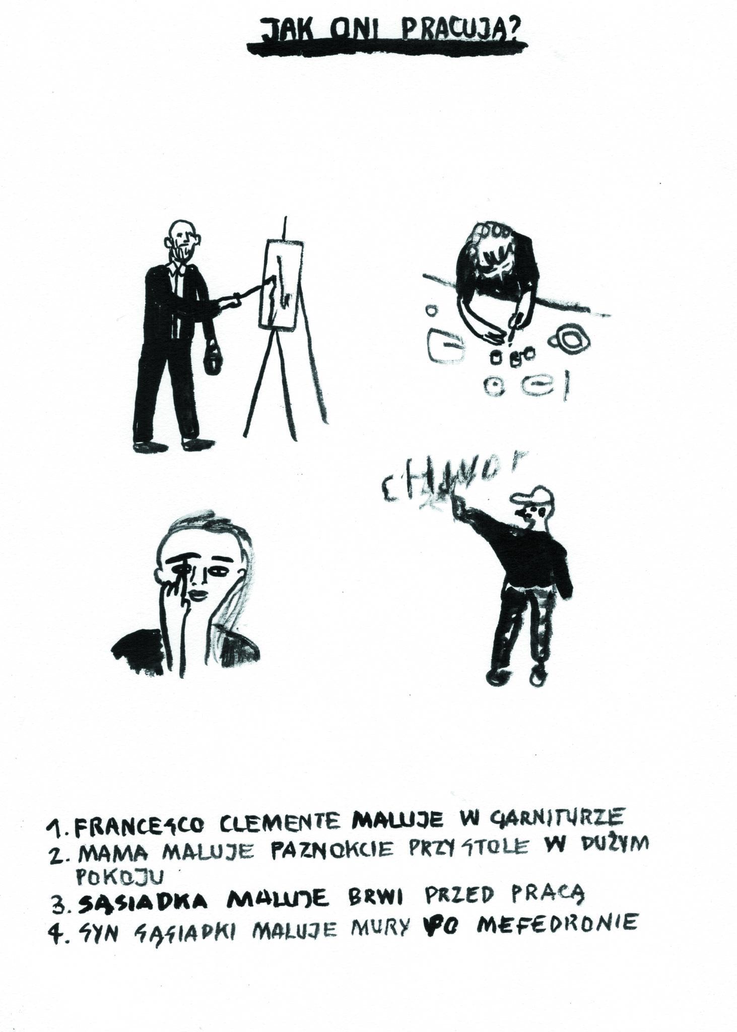 Czarno - biala ilustracja
