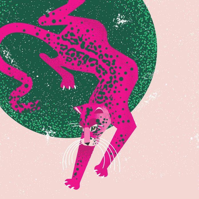 Ilustracja przedstawiająca różową panterę