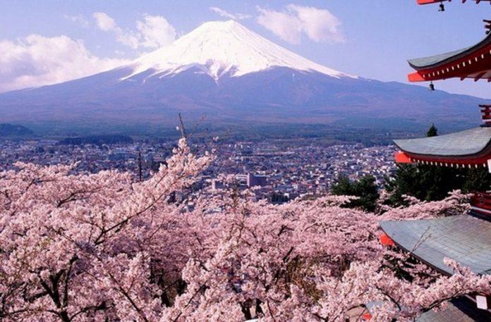 Krajobraz Japonii