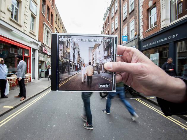 Okładka płyty na ulicy Londynu