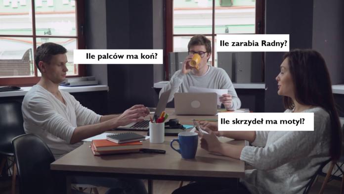 Grupa ludzi siedząca przy laptopach