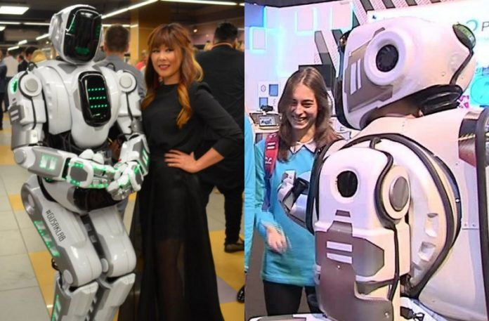 Dwie fotografie przedstawiające Robota