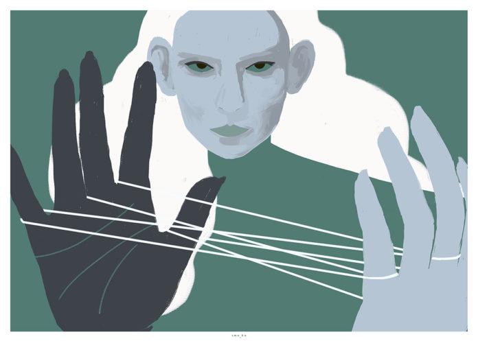 Grafika przedstawiająca kobietę
