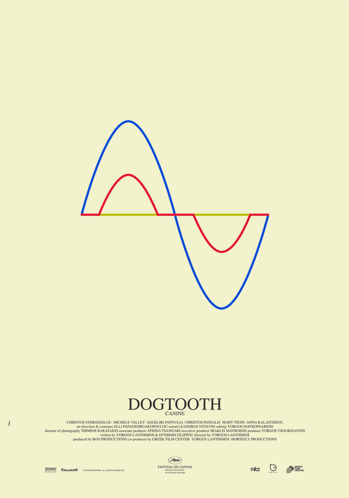 Plakat przedstawiający sinusoidę