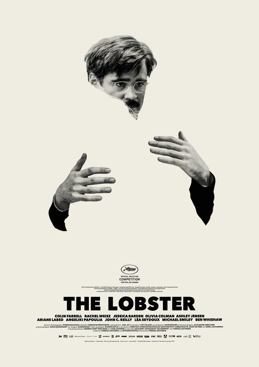 Plakat przedstawiający mężczyznę przytulającego niewidzialną postać