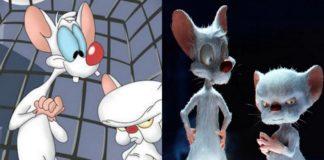 Dwie myszy w wersji rysunkowej i 3d