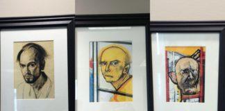 Trzy portrety przedstawiające twarz mężczyzny