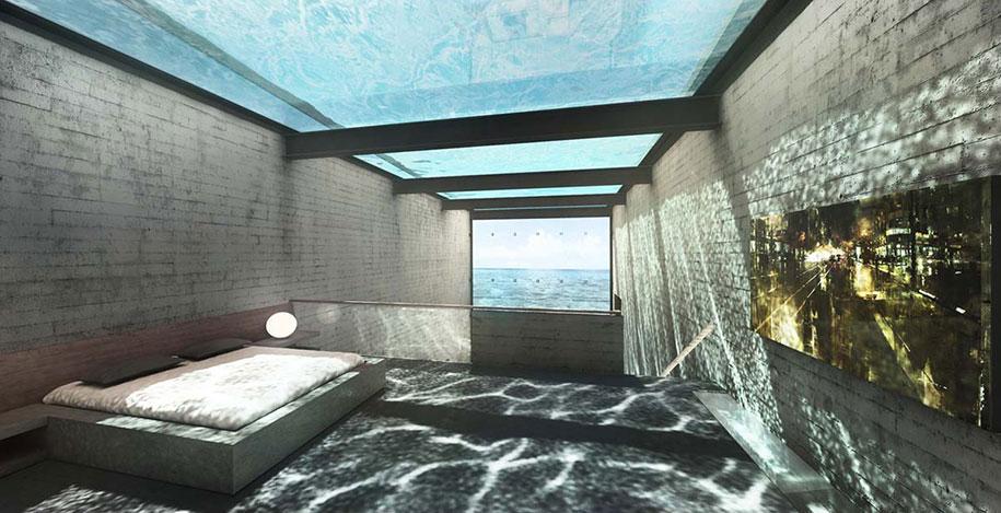 Wnętrze mieszkania na klifie