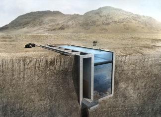 Mieszkanie wiszące na klifie