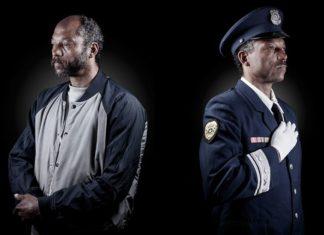 Dwa ujęcia tego samego mężczyzny: jako bezdomnego i policjanta