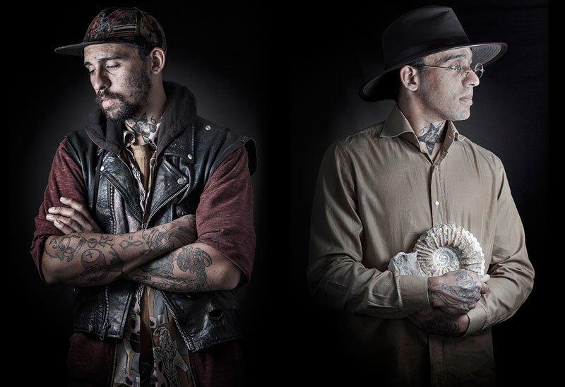 Dwa ujęcia tego samego mężczyzny: jako bezdomnego i archeologa