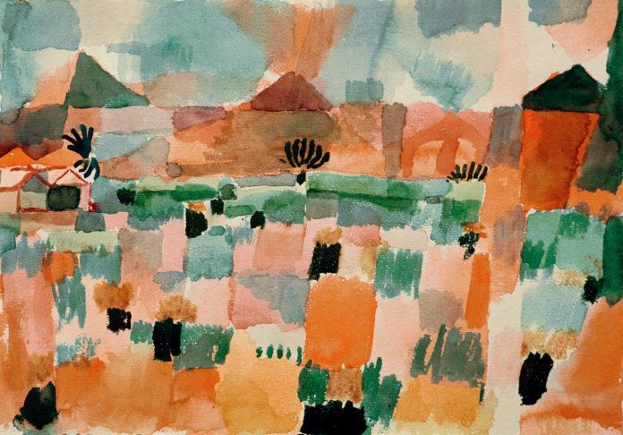 Obraz przedstawiający różnokolorowe kwadraty
