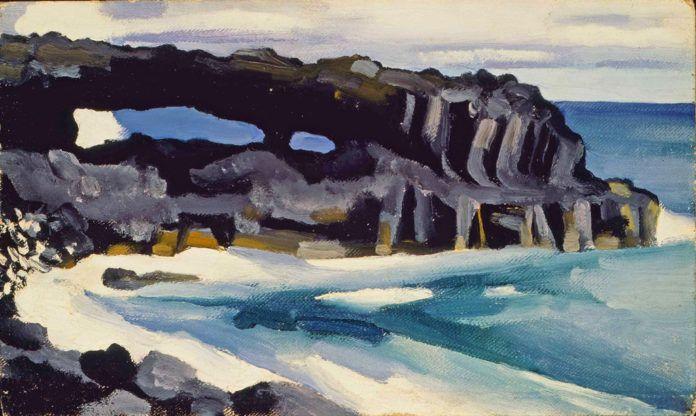 Obraz impresjonistyczny, przedstawiający morze