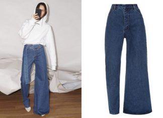 Spodnie z dwoma różnymi nogawkami