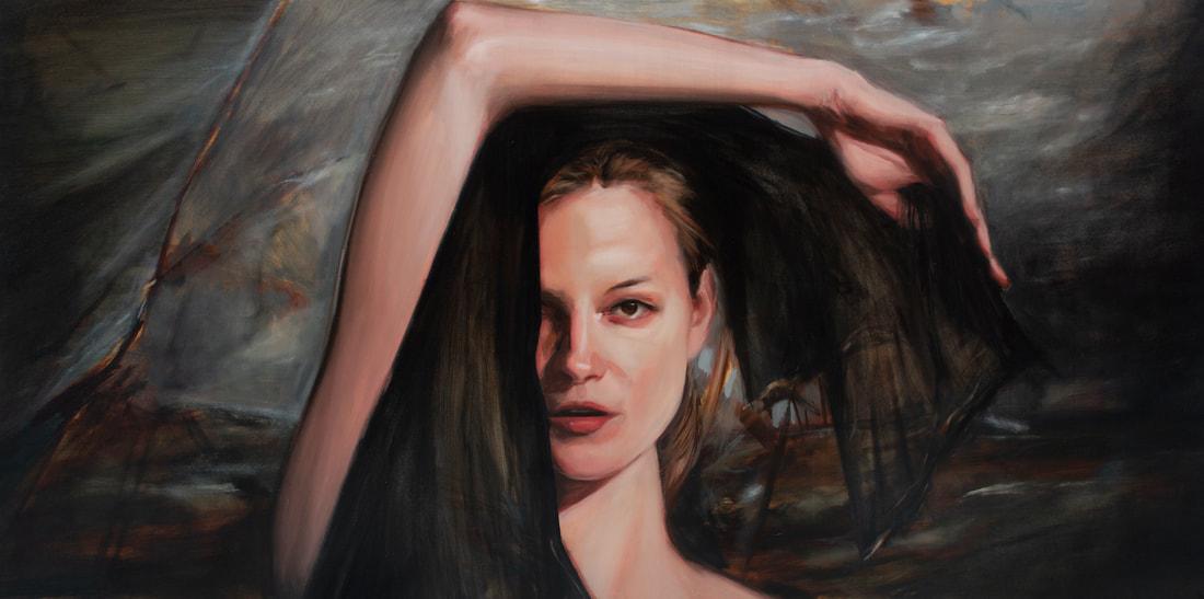 Obraz przedstawia mloda kobiete