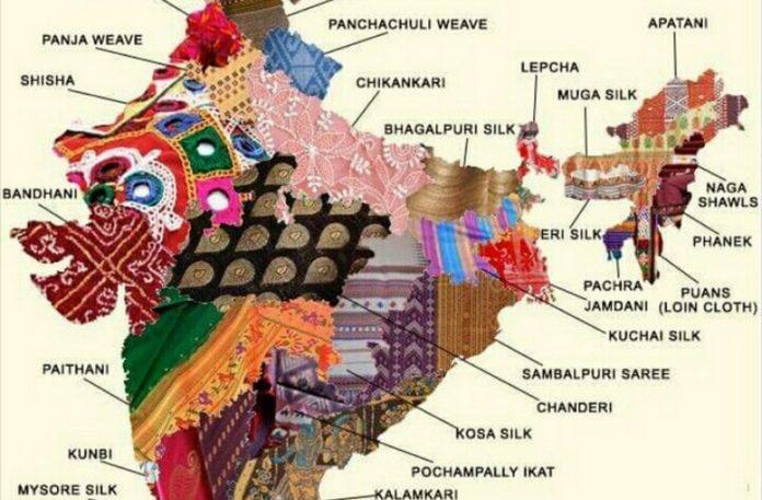 Mapa przedstawiająca materiały i regiony z których pochodzą