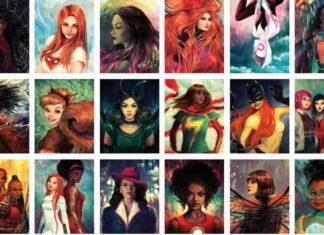Kilkadziesiąt rysunków przedstawiających kobiety