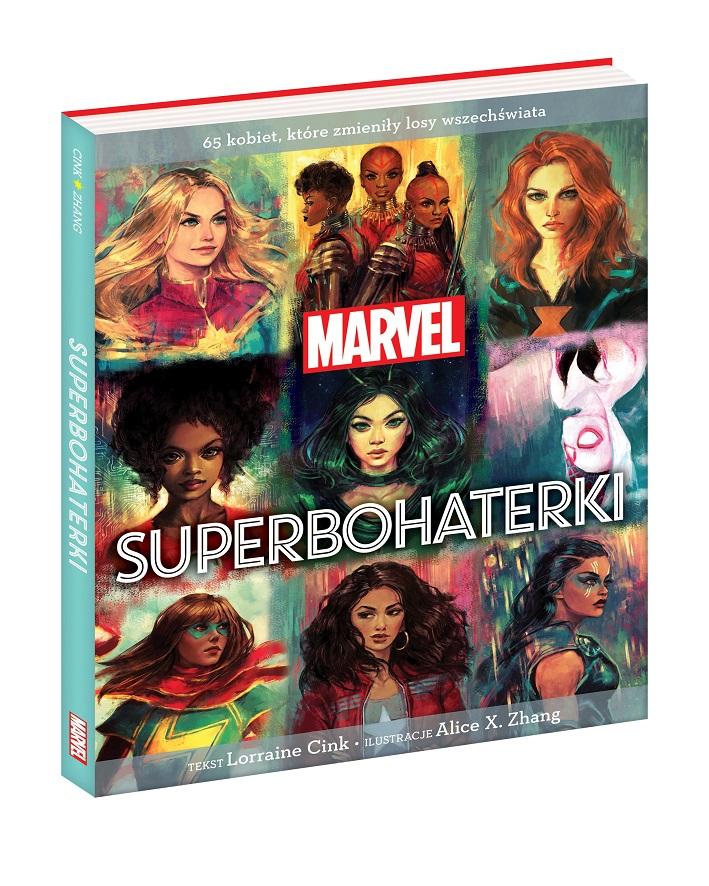 Okładka książki Superbohaterki Marvela